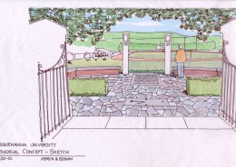 9-11 Memorial at Susquehanna University Concept Perspective