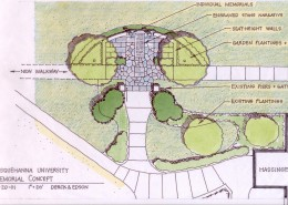 9-11 Memorial at Susquehanna University Concept Plan