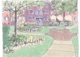Allegheny College Landscape Master Plan Walkway INX