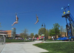 Alvernia Campus Commons Zip Line