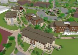 Alvernia Founders Village - Aerial