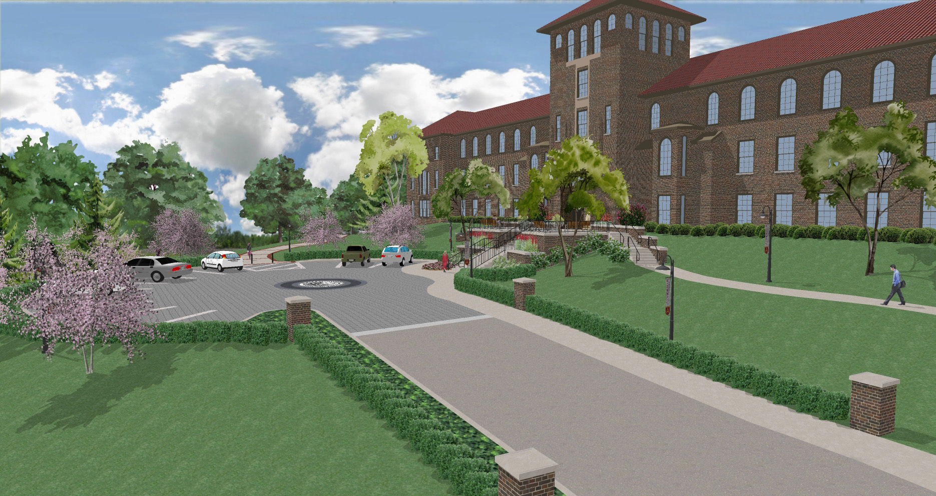 Alvernia Francis Hall Entrance - Scene 1