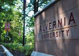 Alvernia University Wayfinding Route 10 Entrance Close-up