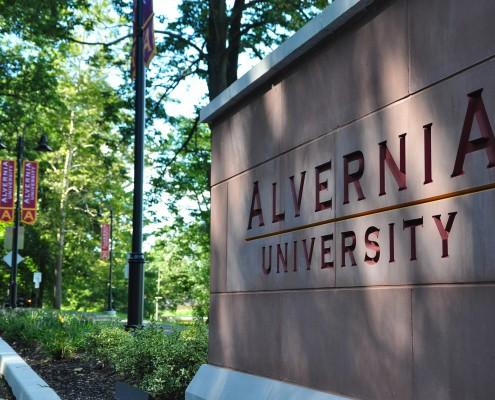 Alvernia University Wayfinding Route 10 Entrance Close-up