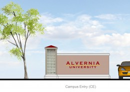 Alvernia University Wayfinding Campus Entry