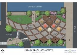 Beaver Falls Library Park Concept 2