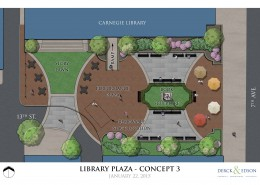 Beaver Falls Library Park Concept 3