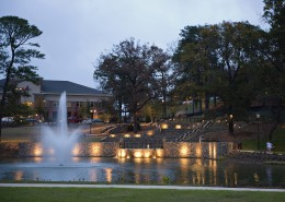 Birmingham-Southern College Urban Environmental Park Fountain at Dusk