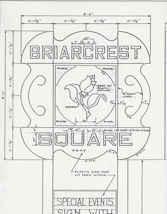 Briarcrest Square Sign