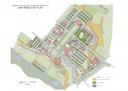 Bridgewater College Landscape Master Plan Lawn Reduction Plan