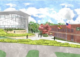Cecil College Engineering Render