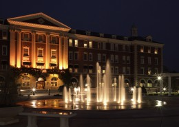 Culinary Institute of America Anton Plaza at Night