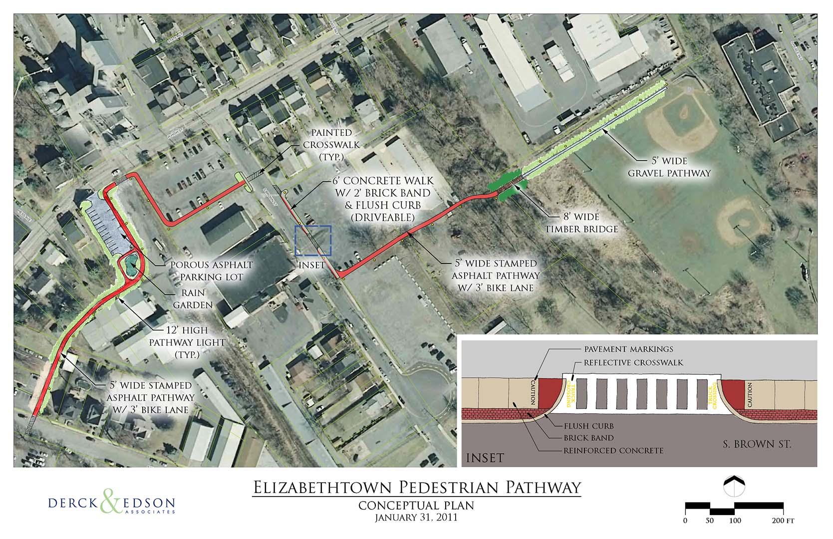 Elizabethtown Pedestrian Pathway