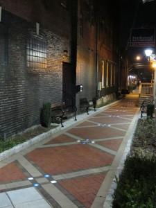 Elizabethtown Rose Alley at Night