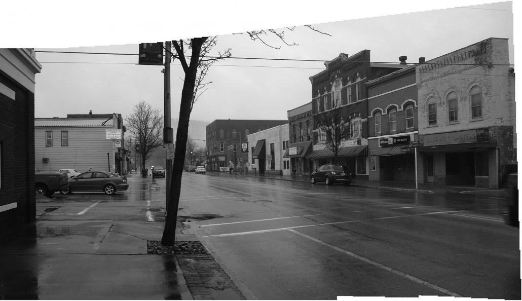 Emporium Borough Main Street - Before