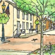 Gettysburg Elm St Breckenridge Sketch