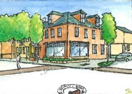 Gettysburg Elm St Corner Sketch