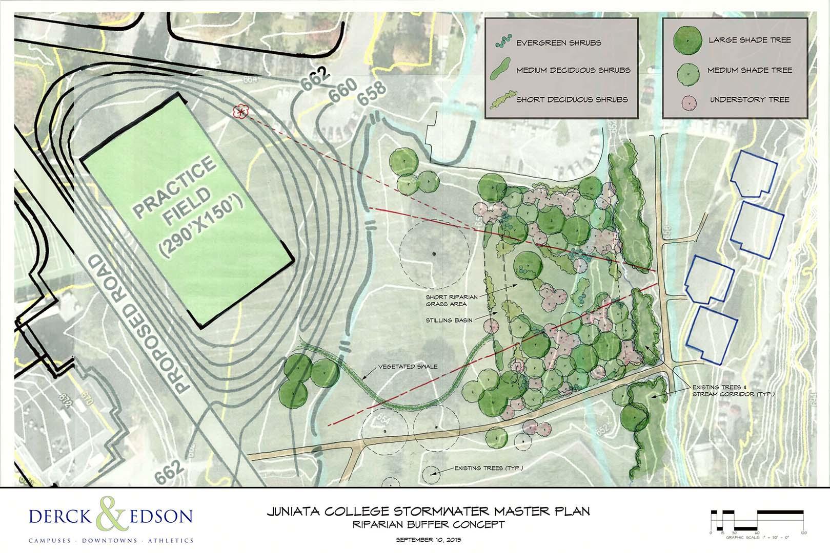 Juniata Campus Map.Juniata College Storm Water Planning Derck Edson