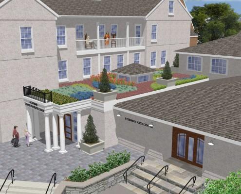 Linden Hall School Stengel Hall Green Roof Rendering