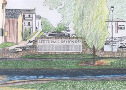 Lititz Wall of Remembrance Sketch