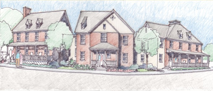 Lycoming College Commons Sketch