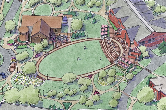 Malone University Aerial Sketch