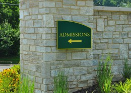 McDaniel College Wayfinding Admissions Photo