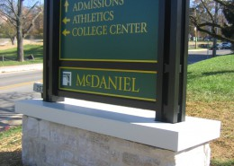 McDaniel College Wayfinding Sign Photo
