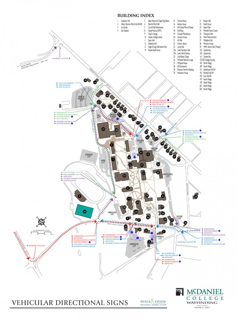 mcdaniel college campus map Mcdaniel College Wayfinding Derck Edson mcdaniel college campus map