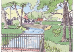 Meadville Downtown Amphitheatre Sketch