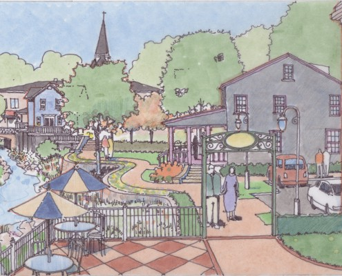 Meadville Downtown Sketch