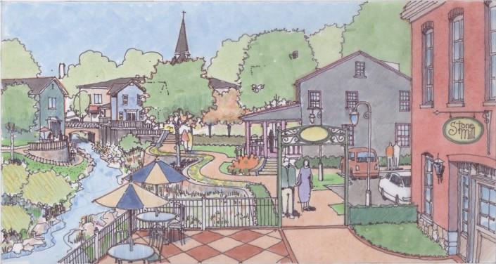 Meadville Downtown Sketch