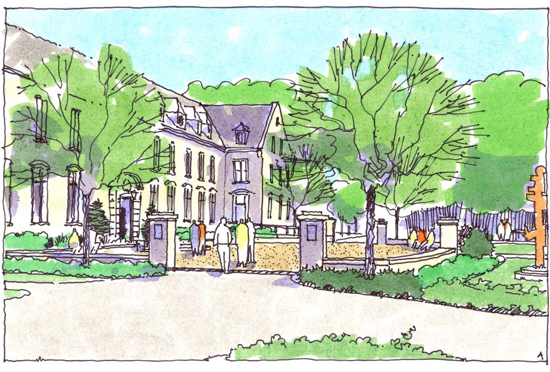 Penn State University Abington Campus Option A Sketch