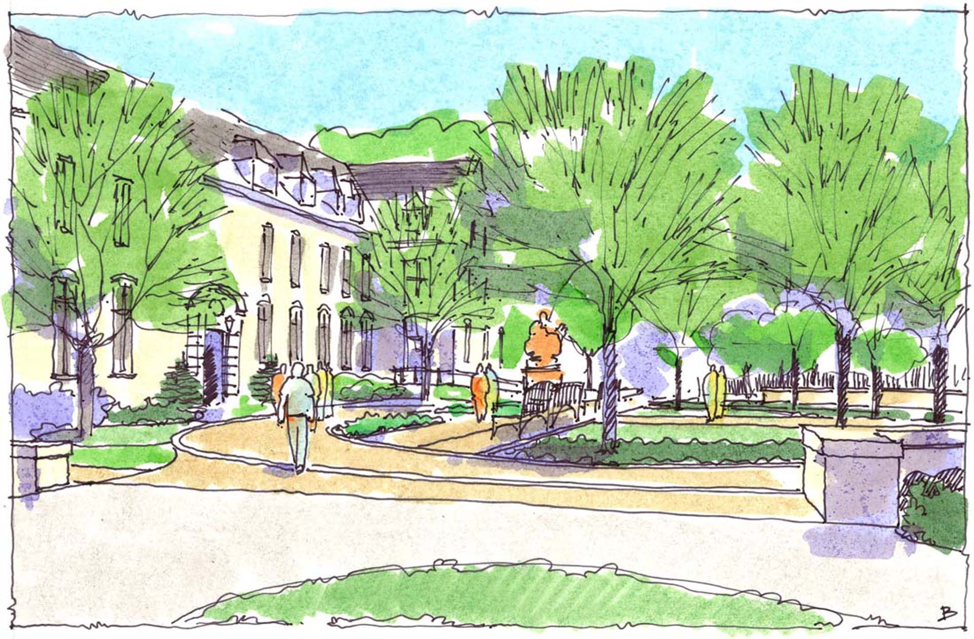 Penn State University Abington Campus Option B Sketch