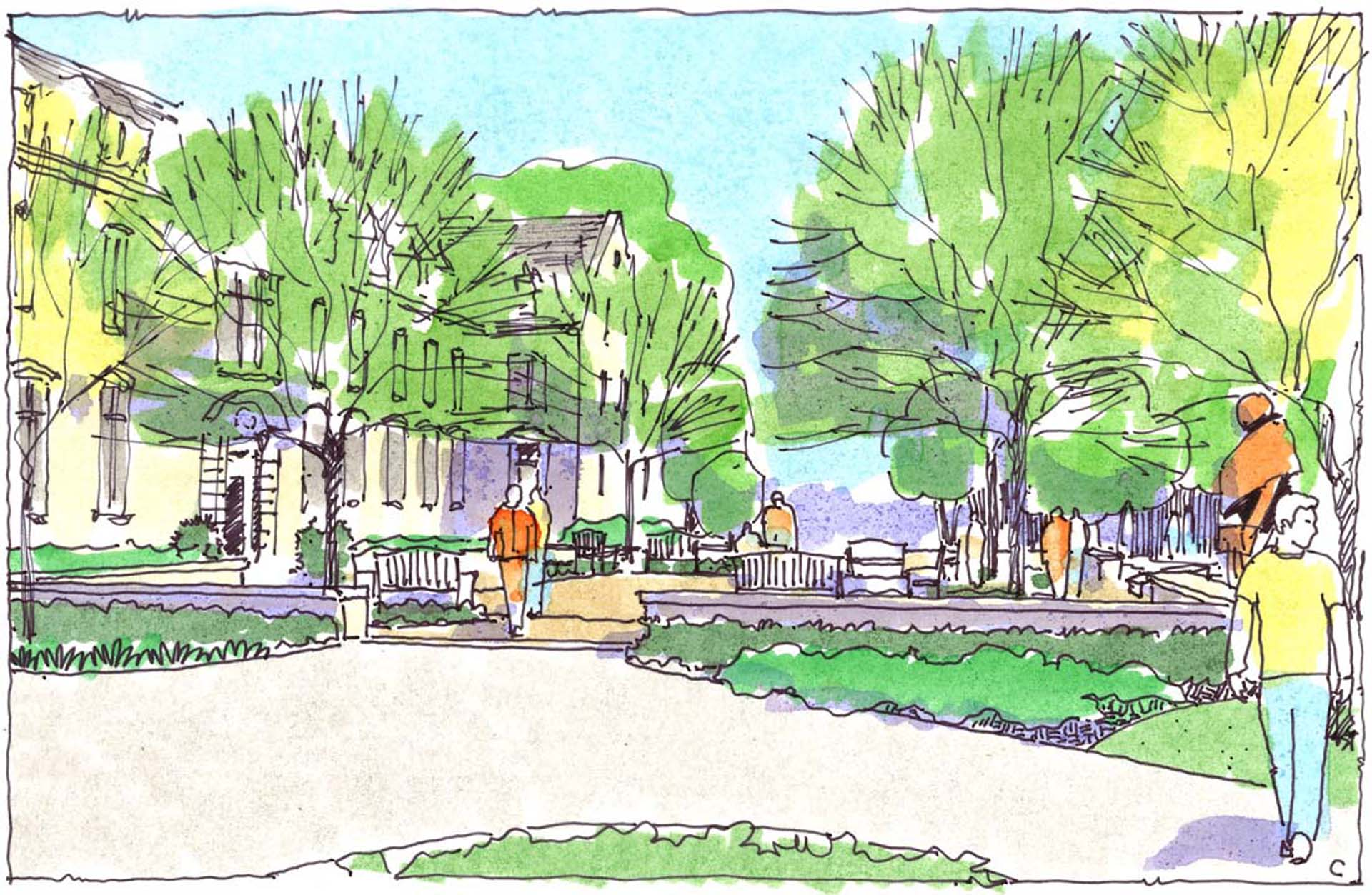 Penn State University Abington Campus Option C Sketch