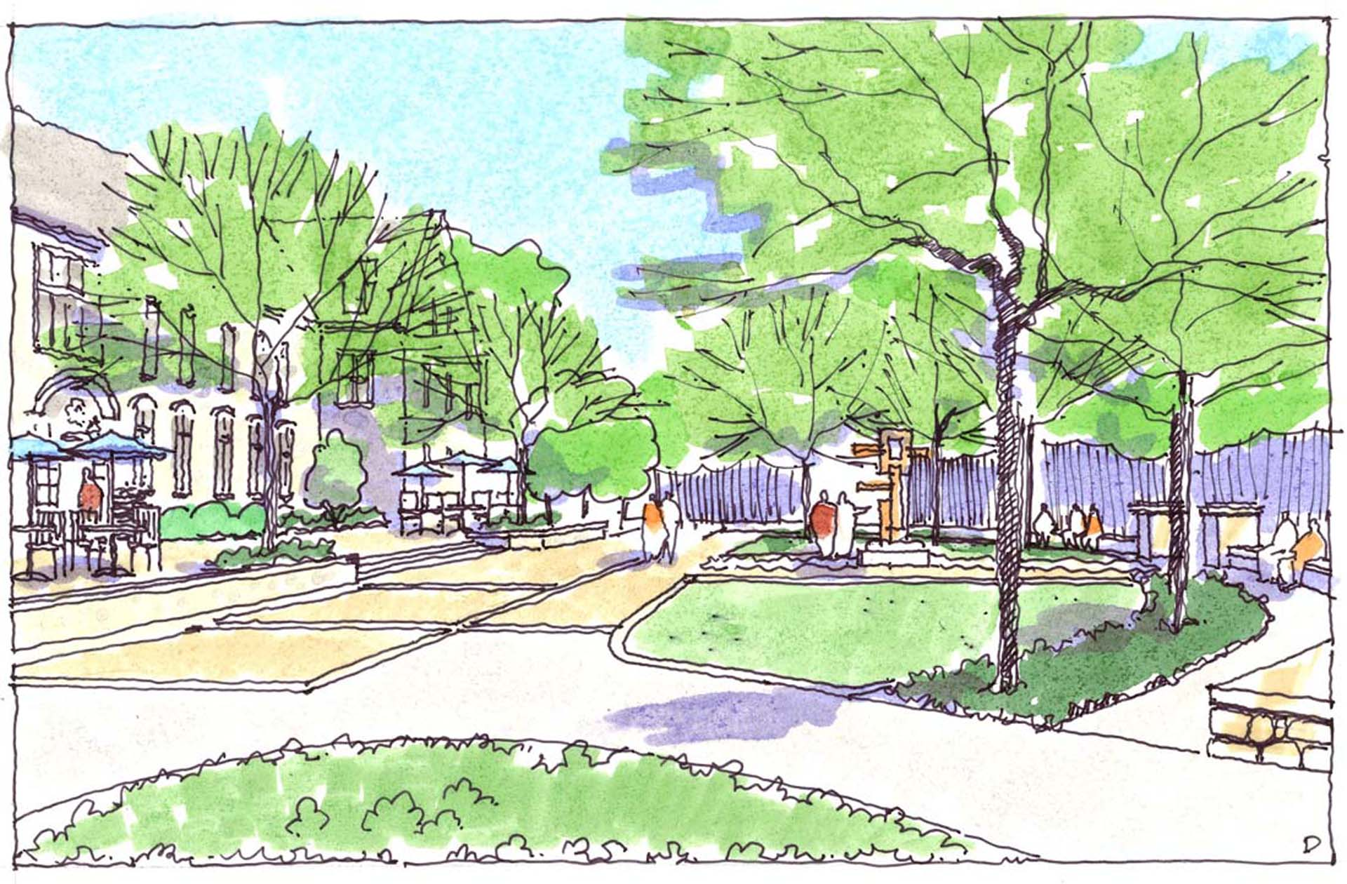 Penn State University Abington Campus Option D Sketch