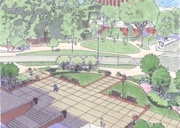 Penn State University Celebration Garden Sketch