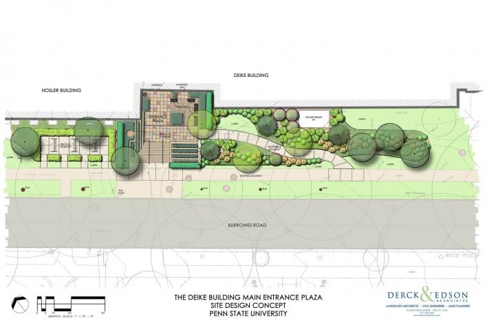 Penn State University Deike Building Plan