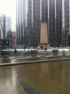 Pittsburgh PPG Place skating