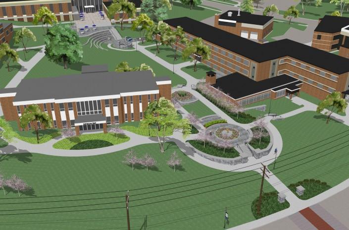 Rivier University Gateways Aerial