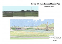 Route 30 Beautification Plan 222 Basin Sketch