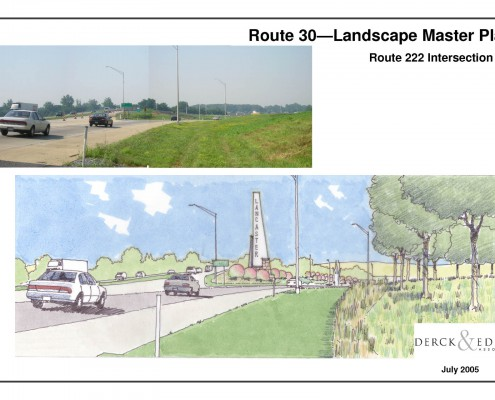 Route 30 Beautification Plan 222 Beacon Sketch
