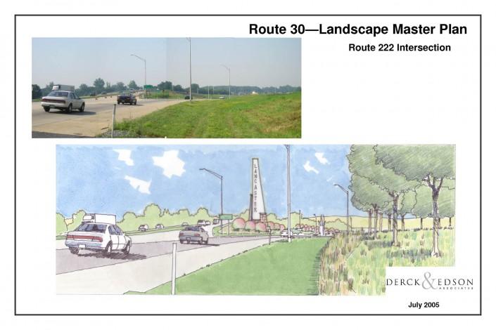 Route 30 Beautification Plan 222 Beacon Sketch