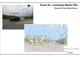 Route 30 Beautification Plan 501 Corner Sketch