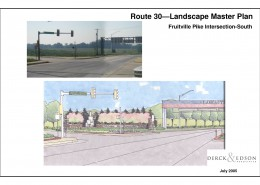 Route 30 Beautification Plan Fruitville South Sketch