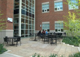 SU Science Building Courtyard Photo
