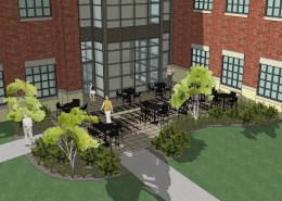 SU Science Building Courtyard Render