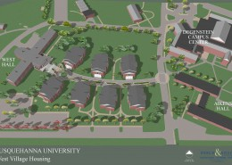 Susquehanna University West Village Aerial View