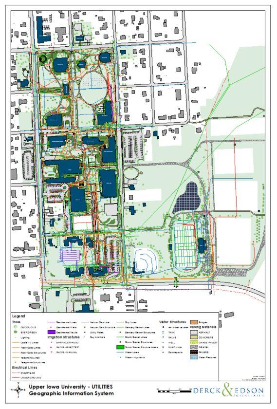 upper iowa university campus map Upper Iowa University Gis Derck Edson upper iowa university campus map