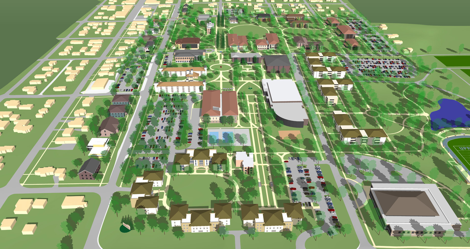 upper iowa university campus map Upper Iowa University Master Plan Derck Edson upper iowa university campus map